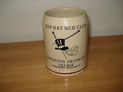 USAF 1950's Top Hat NCO Club Mug Stein Mannheim Germany C6