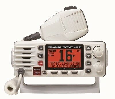 Standard Horizon GX1300 Eclipse Compact Fixed Mount VHF Radio Marine Boat White