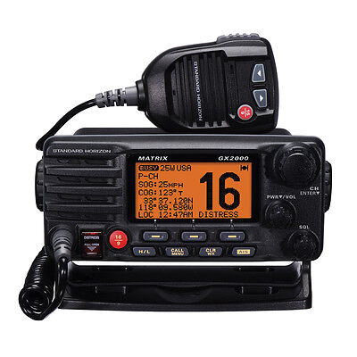Standard Horizon Matrix GX2000 VHF Marine Boat Radio With 30W PA Black