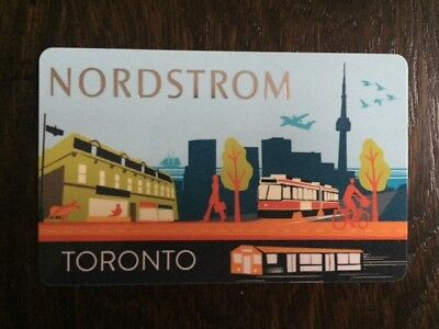 "NORDSTROM ""TORONTO"" Gift Card - New No Value"