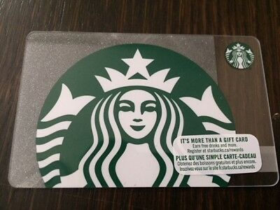 "Canada Series Starbucks ""SPARKLING SIREN 2018"" Gift Card New No Value"