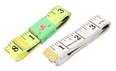 "White Body Measuring Ruler Sewing Fibre Tailor Tape Measure Soft Flat 60"" /150cm"