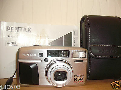 Pentax Espio 145M Super 35Mm Film Camera~Panorama~38-145Mm Lens~Timer (27Jn12)