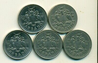 2 DIFFERENT 1 CENT COINS from BARBADOS DATING 2011 & 2012