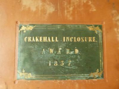 1837 CRAKEHALL INCLOSURE AWARD 32 Page Manuscript T Bradley Richmond Yorkshire