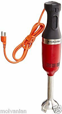 Kitchenaid Khbc208Er Commercial Series Nsf Certified Immersion Blender Red New!