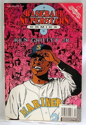 Hall of Famer KEN GRIFFEY Jr. Seattle Mariners '92 Baseball Superstars Comics