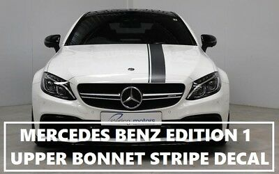 Amg Edition 1 C63 Stripe Matt Black Decal Sticker Upper Bonnet Roof & Tailgate