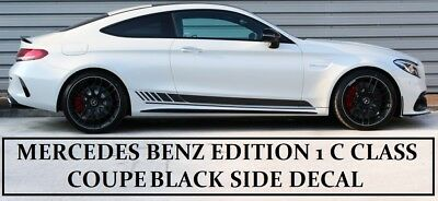 AMG Edition 1 C63 Side Stripe Matt Decals - Mercedes Benz C Class Coupe C205