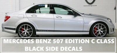 AMG Edition C63 507 Side Stripe Matt Black Decals - Mercedes Benz C Class W204