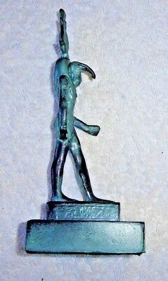 Vintage Cast Metal Statue Figurine Egyptian God Thoth Detailed Cast