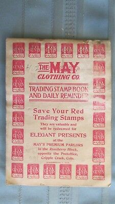 1910's Cripple Creek & Victor Colorado May Clothing Co. Catalog-Trading Stamps