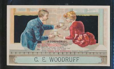 2 sided Victorian trade card, Chase and Sanborn Coffee