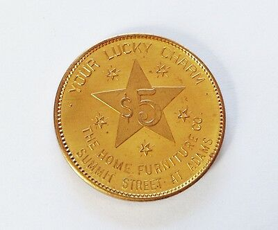 Home Furniture $5 Lucky Charm Coin Token - $5 Off On $50 Purchase