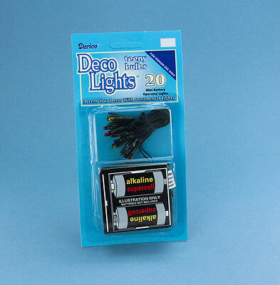 NEW! Dollhouse Miniature Battery Operated Multicolored Christmas Lights #BT20-3