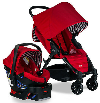 Britax Pathway Stroller & B-Safe 35 Infant Car Seat Travel System Cabana New