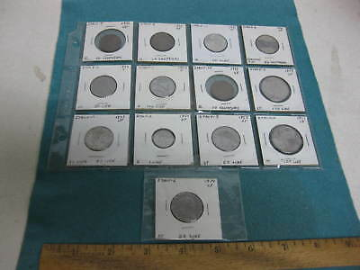 Vintage set of Thirteen Coins from Italy