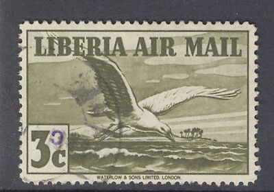Liberia 1944-5, 30c overprint on 3c bird, used, $$$ #C47