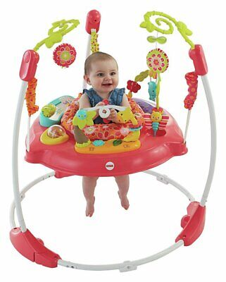 Fisher-Price Pink Petals Jumperoo with 6 Toys - Red - 9+ Months