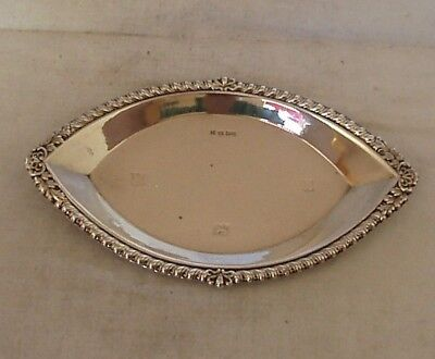 Boat Shaped Dish Sterling Silver Birmingham 1973