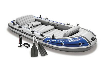 Schlauchboot Excursion 5 Set mit Paddel + Pumpe Boot Paddelboot Ruderboot Intex