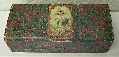 Vintage Circa 1900 - Antique Gift Box in Holly