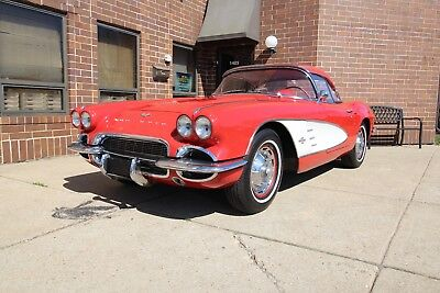 1961 Chevrolet Corvette Red/Red - Dual Quad - With Both Tops 1961 Chevrolet Corvette Red/Red Dual Quad With Both Tops 1958 1959 1960 1962