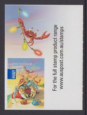Christmas Island  2008 Christmas MUH $1.20 International Post booklet tab