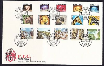Zimbabwe 1980 Definitives LARGE First Day Cover