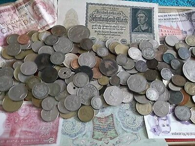 JOB LOT OF OLD COINS AND BANKNOTES 99p WKK 20