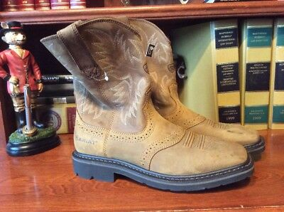 a5008dd77b9 Ariat Sierra Wide Square Toe Mens Size 8.5 Work Boots Aged Bark 10010148
