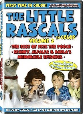 LITTLE RASCALS IN COLOR VOL 2 New Sealed 2 DVD Set