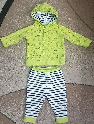Rosie Pope Baby Boy Girl Popover Hoodie & Pants Set Striped Camp Theme 18 month