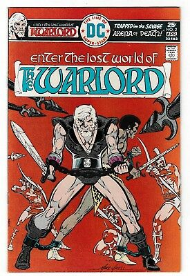 WARLORD #2 (FN/VF) 1st MACHISTE! Mike Grell Story & Art 1976 DC Bronze-Age Issue