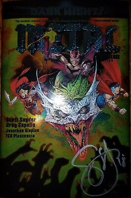 DC Dark Nights Metal Deluxe Edition Hardcover Scott Snyder Signed Autographed