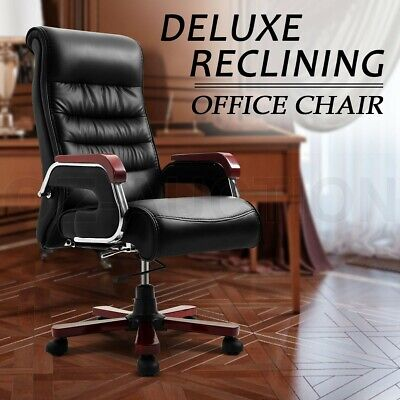 Deluxe Executive High Back Ergonomic PU Leather Computer Reclining Office Chair