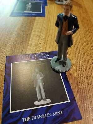 """Gone With the Wind 3 1/2"""" CHARLES HAMAILTON Figurine Franklin Mint 1990  NO BOX"""