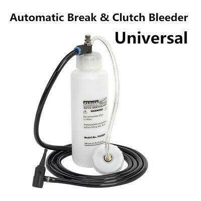 Car Van Brake Bleeder Bleeding Fluid Change Tool Air Pneumatic Garage Vacuum Kit