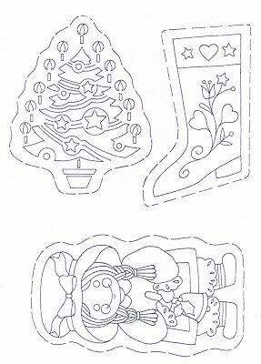 Christmas Tree Decorations ~ Iron-on Embroidery Transfer Sewing Pattern 05