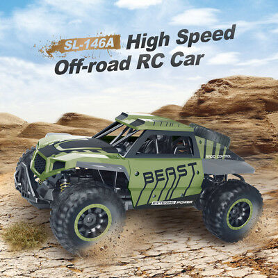 Flytec 1/18 RC Truck 2.4Ghz 4WD High Speed Off-road Car Short Course Truck Green
