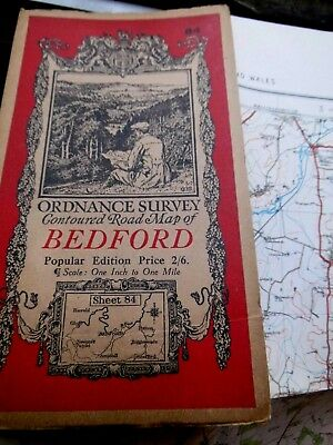 Bedford: Classic Ellis Martin Ordnance Map 1919-35 Series 4:Famous Picture Cover