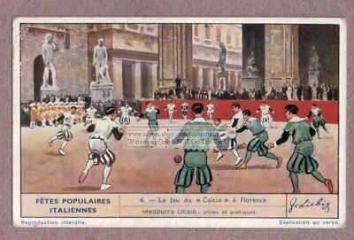 Calcio Storico Costumed Football Game Florence Italy 1930s Trade Ad Card