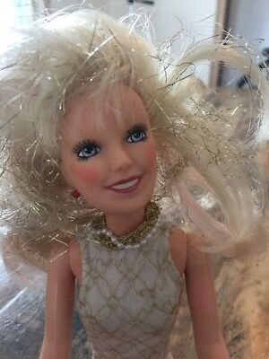 Vintage 1985 Hasbro Jem And The Holograms Doll Gold Glitter Hair