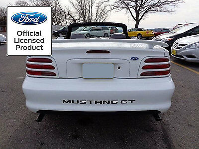 94-98 Ford Mustang Letters Rear Bumper Inserts Vinyl Decals Stickers Gt & V6