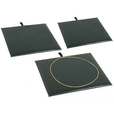 3 Jewelry Display Pad Black Faux Leather Insert