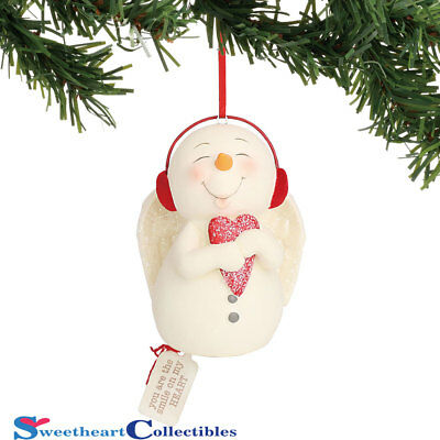 Dept 56 Snowpinions 6000915 You Are The Smile On My Heart Ornament 2018