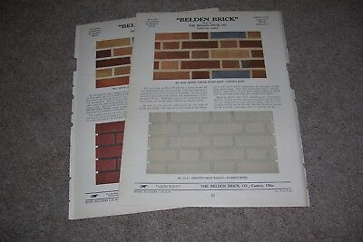2 Page Vintage 1928 Belden Brick Advertisement, Canton OH