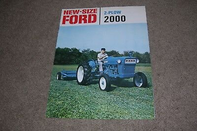 Vintage 1960's (?) Ford Tractor Brochure, 2-Plow 2000
