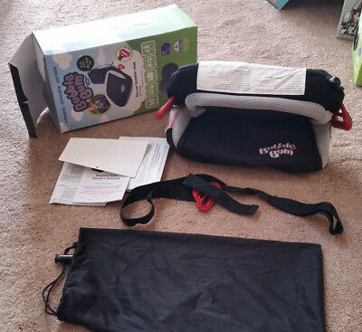 BubbleBum Travel Booster Car Seat Black 4-11 years