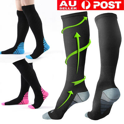 15-30mmHg Medical Compression Socks Foot Support Stockings Travel Flight Socks O